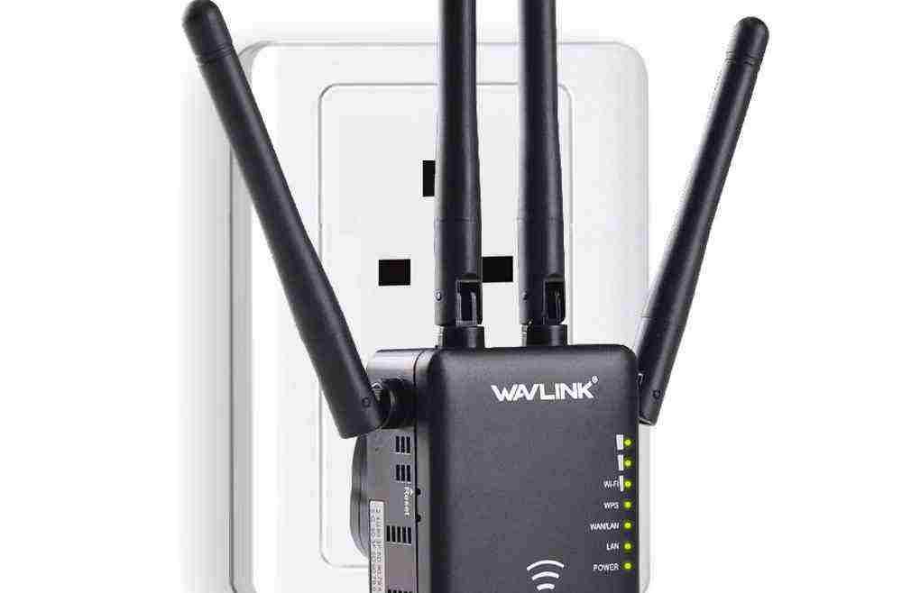 offertehitech-Wavlink AC1200 1200Mbps Doppia Banda 4x3dBi Antenne Esterne Wireless WIFI Ripetitore Segnale Booster Range Extenter WiFi