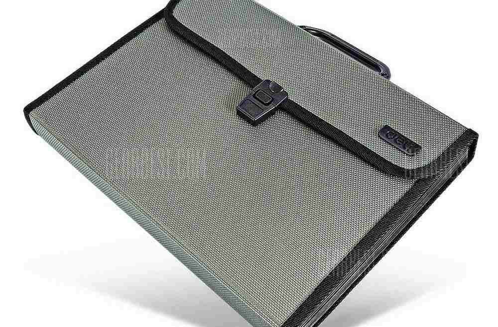 offertehitech-gearbest-Deli 5555 A4 Data Storage Handheld Briefcase Folder