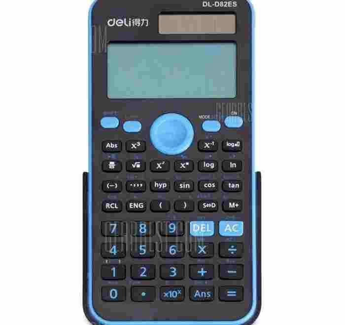 offertehitech-gearbest-Deli D82ES Solar Powered Calculator
