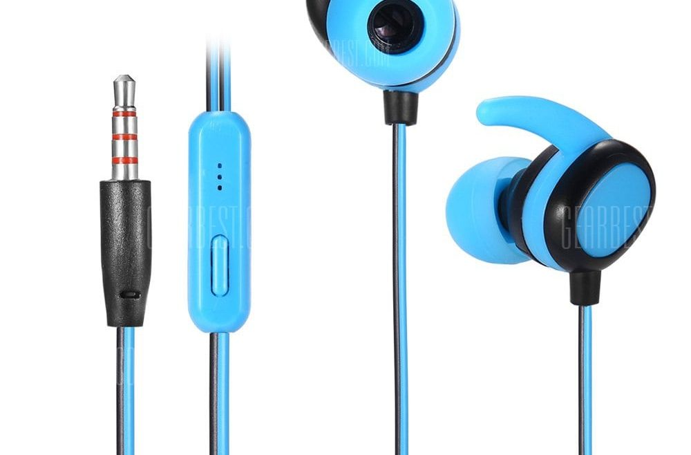 offertehitech-gearbest-KSD - N02 Dual-color Microphone Support Wire Sports Earbuds