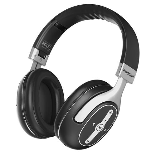 offertehitech-Tronsmart S6 Active Noise Cancelling Bluetooth Headphones with Microphone and 3.5mm Audio Jack for iPhone Android and More
