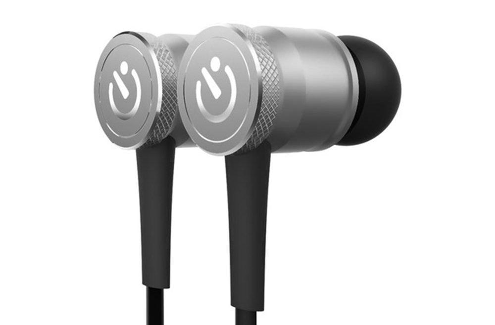 offertehitech-JAKCOM WE2 Wearable Bluetooth Earphone with Mic Noise Canceling - Silver
