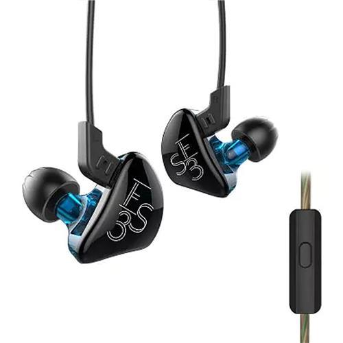 offertehitech-KZ KZ-ES3 In-ear Headphones with Mic Detachable HiFi Earphones - Black