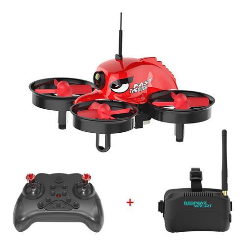 offertehitech-Redpawz R011 5.8G 40CH Micro FPV Racing Drone with 1000TVL FOV 120 Degree Wide-angle Camera 3 Inch VR-D1 Goggles - RTF