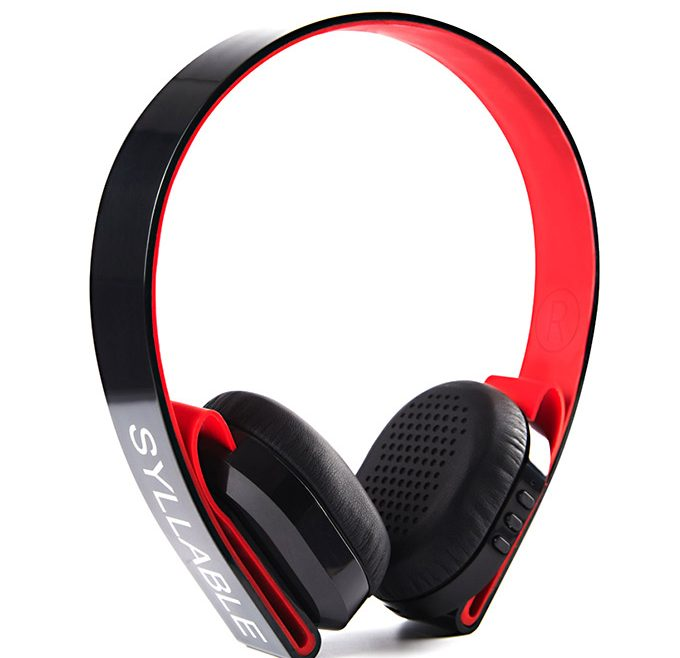 offertehitech-Syllable G600 Wireless Bluetooth 4.0 Headphone Earphone Deep Bass Built-in Mic / 40mm Speaker - Black + Red