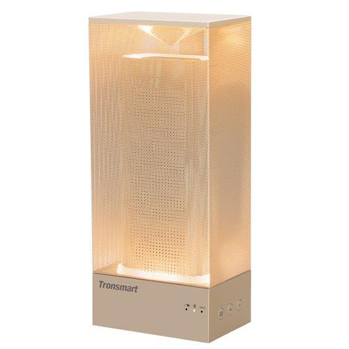 offertehitech-Tronsmart Beam 15W Wireless Bluetooth Speaker Solid Mesh Speaker with Deep Bass Mood Lights - Gold