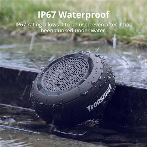 offertehitech-Tronsmart Element Splash IP67 Waterproof Portable Bluetooth Speaker with TWS for iOS Android Smartphones - Black