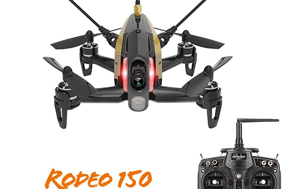 offertehitech-Walkera Rodeo 150 F150 F3 5.8G FPV 600TVL Camera DEVO-7 3D Roll 40CH MicroDrone RTF--Black ( Mode 2 )