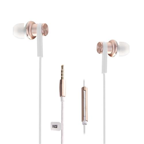offertehitech-Original Xiaomi Mi IV In-ear Dual Dynamic Driver Wired Control Earphone Headphone with MIC for Android iOS - Gold
