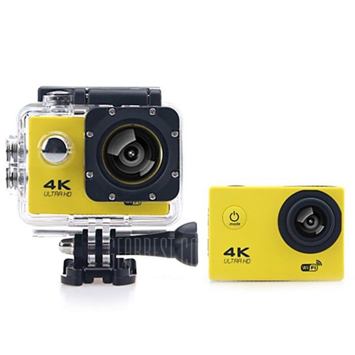 offertehitech-gearbest-F60B 4K WiFi 170 Gradi Grandangolare Fotocamera Sportiva