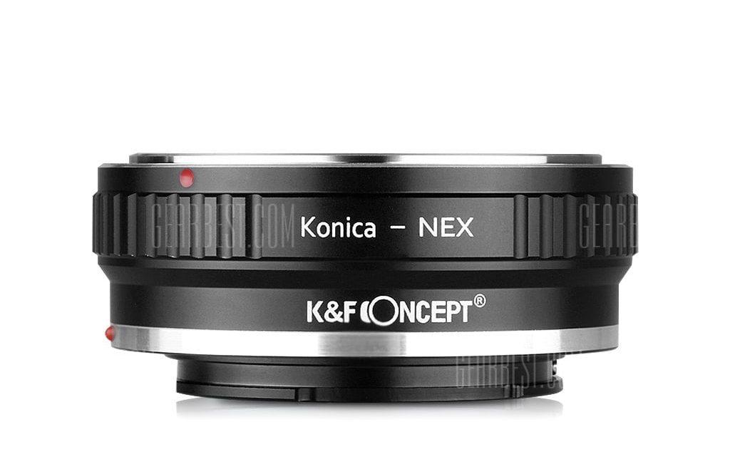 offertehitech-gearbest-K&F Concept Lens Mount Adapter Ring for Konica AR Lens to Sony NEX NEX3 NEX5 E-Mount Camera (KONICA to NEX)