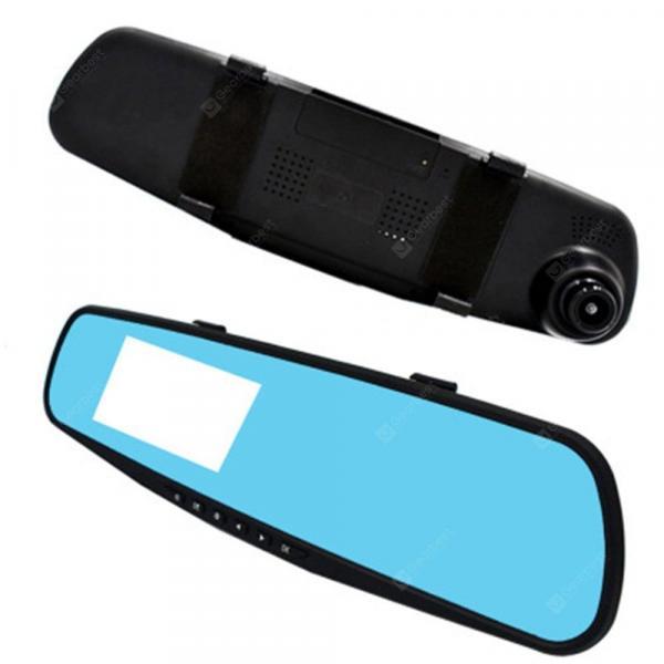 offertehitech-gearbest-Car DVR Dash Cam Car Rearview Mirror Driving Recorder 1080P HD Blue Screen Anti-light Multi-Language  Gearbest