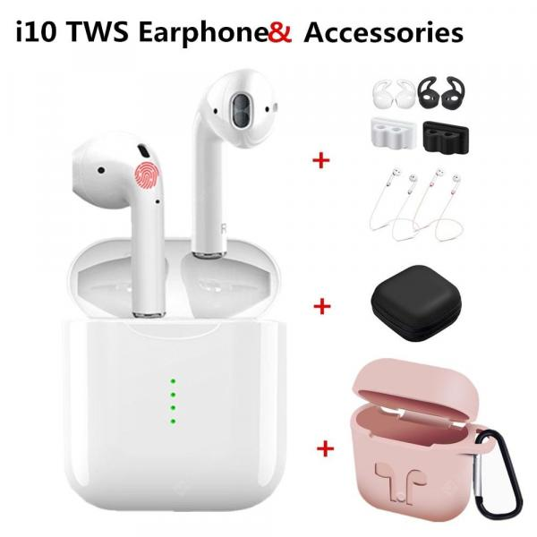 offertehitech-gearbest-i10 TWS Bluetooth Wireless Stereo earbuds Sport Headset With Protective Accessories  Gearbest