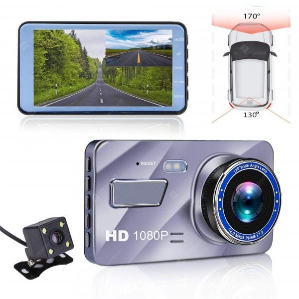 offertehitech-gearbest-4 inch Dual Lens Car Dash Cam Edge Camera 170 Degree Vehicle Driving Recorder Sensor Monitor  Gearbest