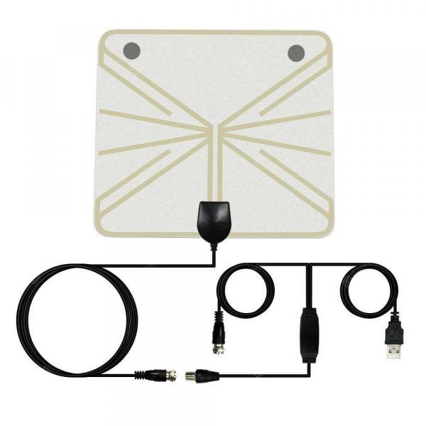 offertehitech-gearbest-Indoor HDTV Signal Amplifier Digital TV Antenna 50 Miles Range 25DB High Gain  Gearbest