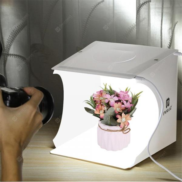 offertehitech-gearbest-Mini Portable Six Colors Folding Lightbox Photography Studio LED Light Softbox  Gearbest