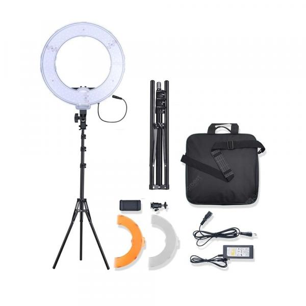 offertehitech-gearbest-Bi-Color LED Ring Light Video Photography Camera Phone Fill Lamp with Stand  Gearbest