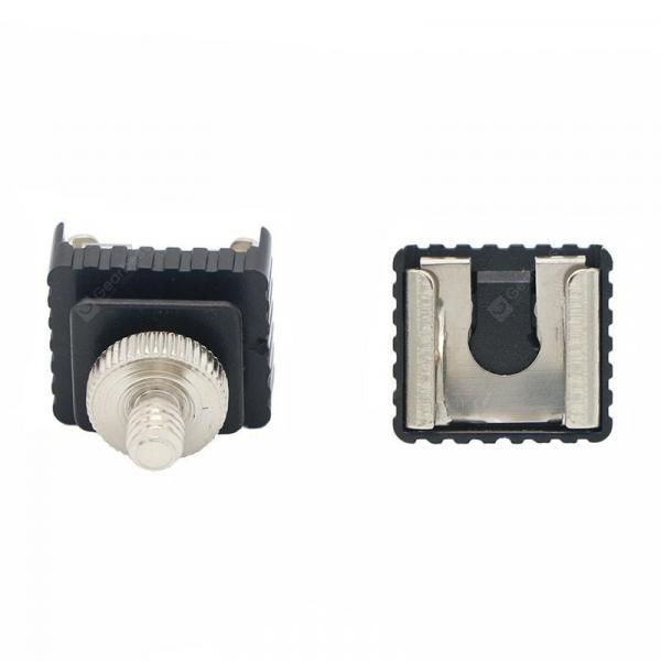 offertehitech-gearbest-Camera Flash Hot Shoe Converter Flash Screw Cold Shoe Socket 1/4 Or 3/8 Base Transfer Hot Shoe  Gearbest