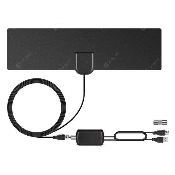 offertehitech-gearbest-Indoor Digital HDTV Antenna Signal Amplified 80 Mile Range 4K HD VHF Freeview  Gearbest
