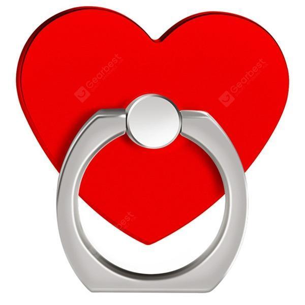 offertehitech-gearbest-360 Degree Rotating Heart Shape Cell Phone Finger Ring Holder Stand