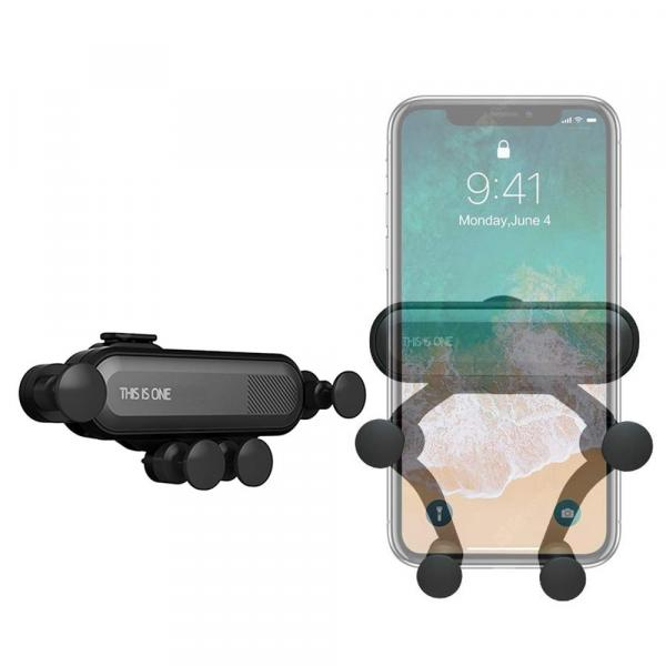 offertehitech-gearbest-360-Degree Rotation Gravity Car Air Outlet Phone Holder for iPhone