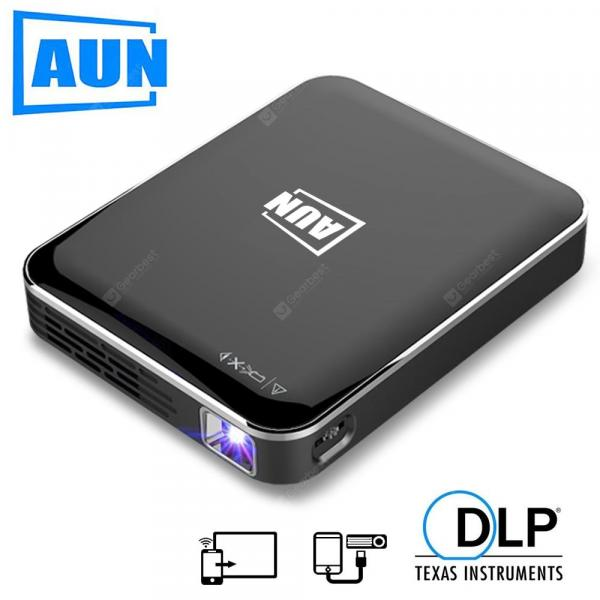 offertehitech-gearbest-AUN MINI Projector X3 Android IOS Phone Screen Mirroring Portable projector for 1080P Home Cinema