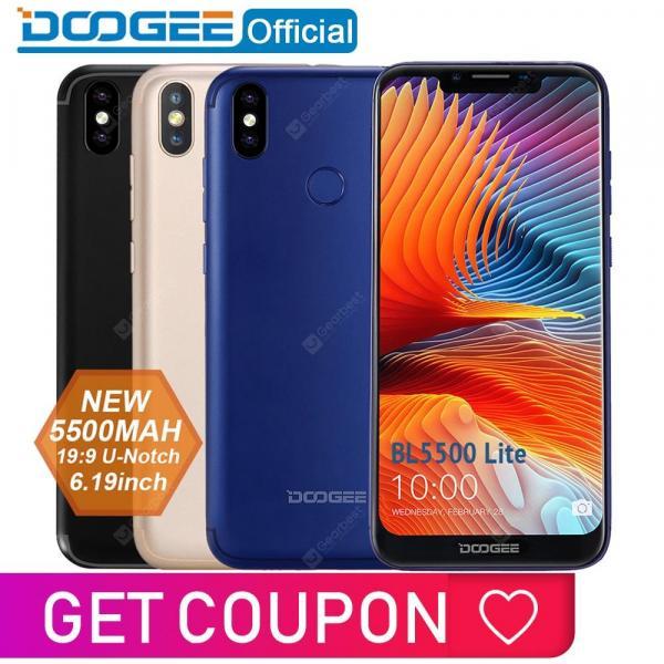 offertehitech-gearbest-DOOGEE BL5500 Lite U-Notch Smartphone 6.19 inch MTK6739 Quad Core 2GB RAM 16GB ROM