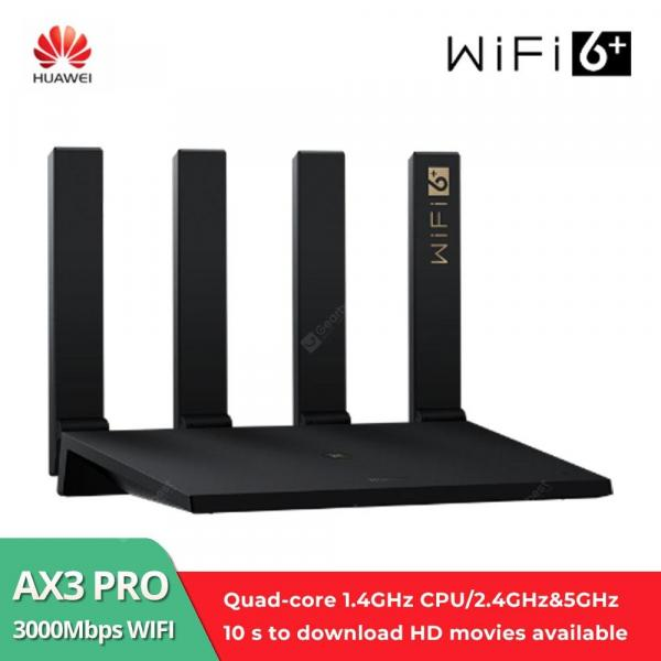 offertehitech-gearbest-Huawei Wifi AX3 Quad-Core WiFi 6+ Wireless Router Ultra-Fast Speed With 1024-QAM And 160 MHz Frequency Bandwidth And Quad-Core Gigahome CPU AX3 Pro