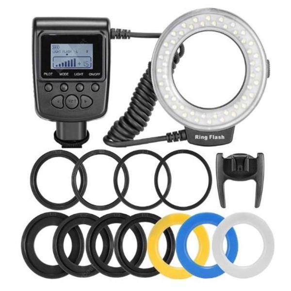 offertehitech-gearbest-LED Ring Flash Light Speedlight For Nikon Canon Olympus Pentax Fujifilm DSLR Cameras Shoe Flash
