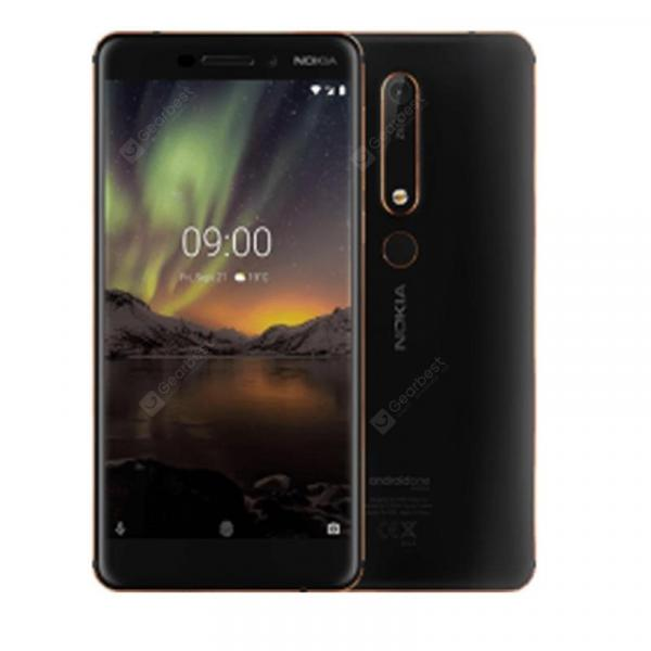 offertehitech-gearbest-Nokia 6.1 Global Version 5.5 inch FHD NFC Android 9.0 Snapdragon 630 Octa Core 4G SmartPhone