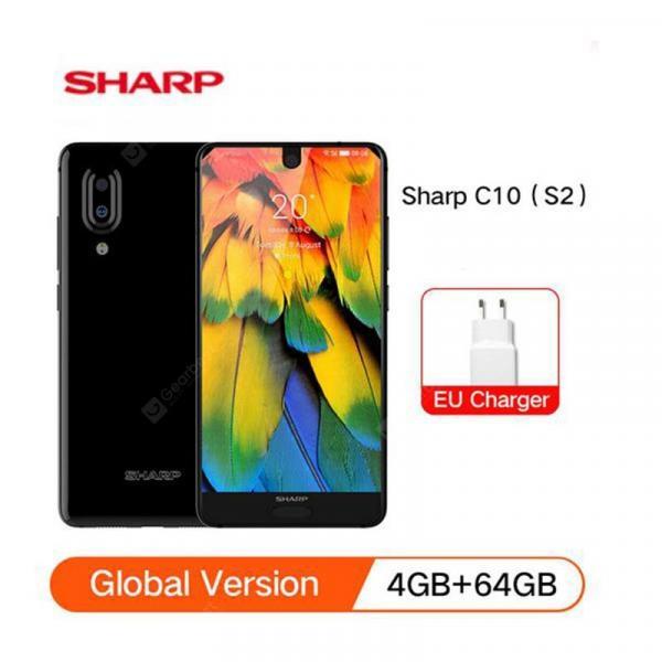 offertehitech-gearbest-SHARP AQUOS C10 S2 Global Version SmartPhone Android8.0