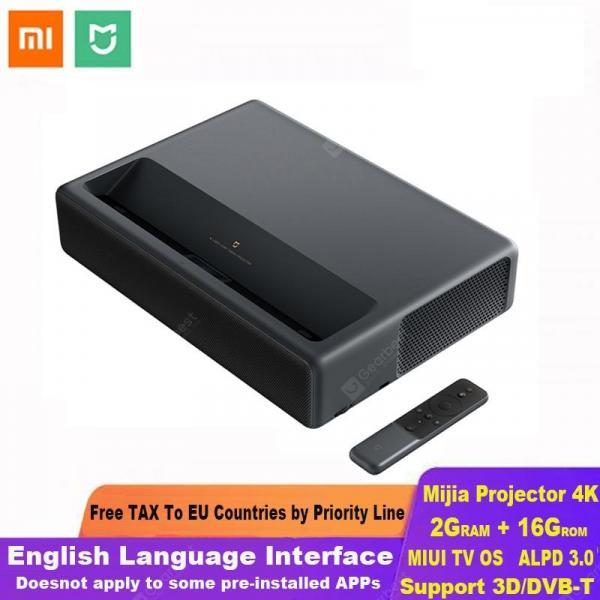 offertehitech-gearbest-Xiaomi Mijia Laser Projection TV 4K Home Theater 200 Inch Wifi 2G RAM 16G English Interface